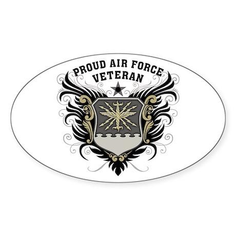 Proud Air Force Veteran Sticker (Oval)
