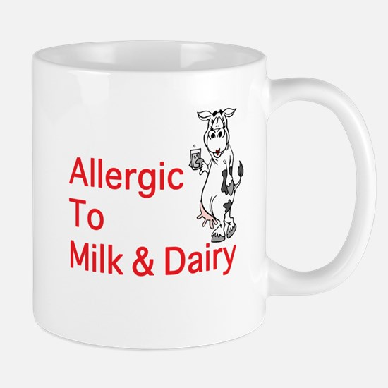 Cute Allergic to milk Mug