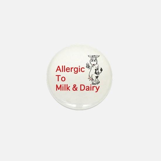 Cute Allergic to eggs Mini Button