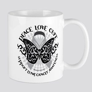 Lung Cancer Butterfly Tribal Mug