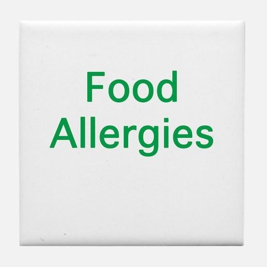 Food Allergies Tile Coaster
