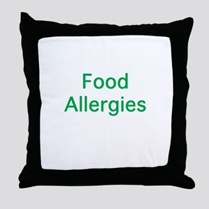 Food Allergies Throw Pillow