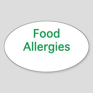 Food Allergies Sticker (Oval)