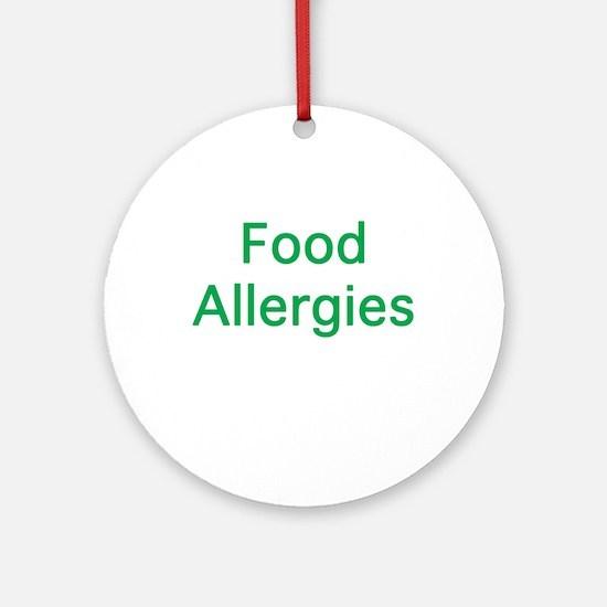 Food Allergies Ornament (Round)