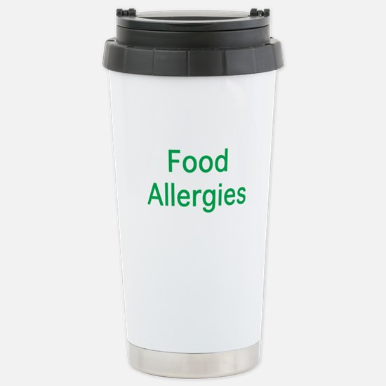 Food Allergies Stainless Steel Travel Mug