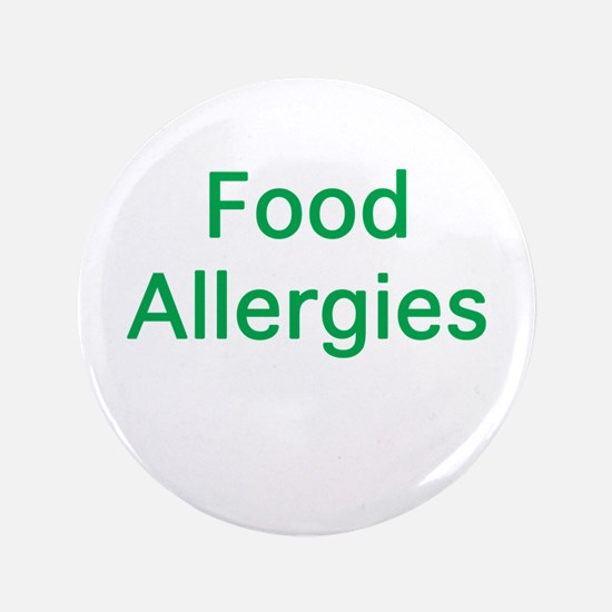 "Food Allergies 3.5"" Button"