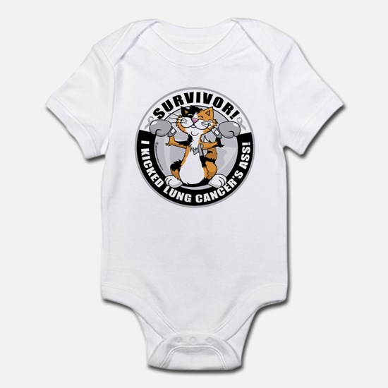 Lung Cancer Cat Survivor Infant Bodysuit