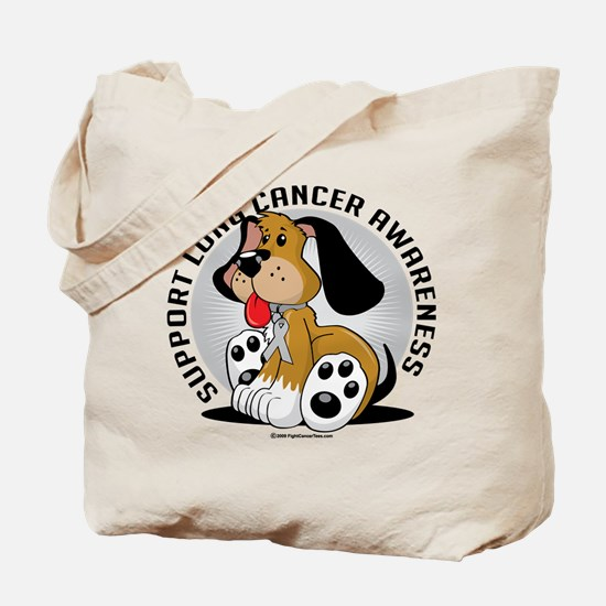 Lung Cancer Dog Tote Bag