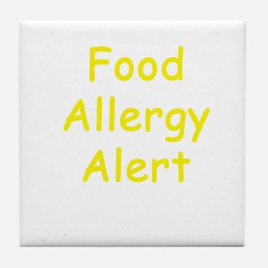 Food Allergy Alert Tile Coaster