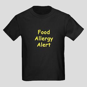 Food Allergy Alert Kids Dark T-Shirt
