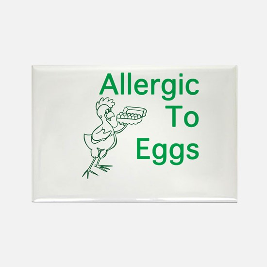 Allergic to Eggs Rectangle Magnet