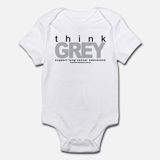 Lung Cancer Think Grey Infant Bodysuit