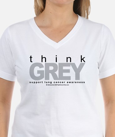 Lung Cancer Think Grey Shirt