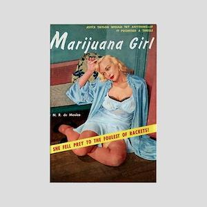 Marijuana Girl! Rectangle Magnet