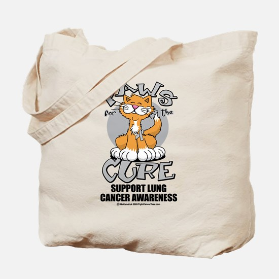 Paws For The Cure Cat Lung Ca Tote Bag