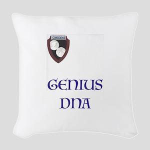 DNA Woven Throw Pillow