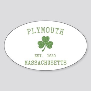 Plymouth MA Sticker (Oval)