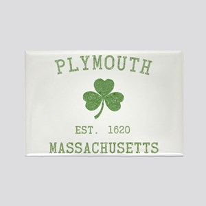 Plymouth MA Rectangle Magnet