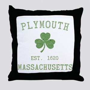 Plymouth MA Throw Pillow