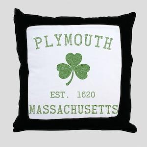 Plymouth MA Throw Pillow
