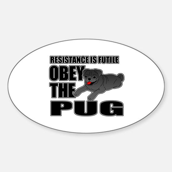 Pug Sticker (Oval)