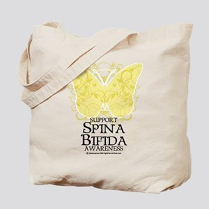 Spina Bifida Butterfly Tote Bag