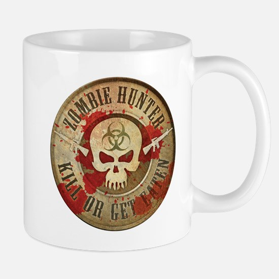 Zombie Hunter Distressed Mug