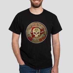 Zombie Hunter Distressed Dark T-Shirt