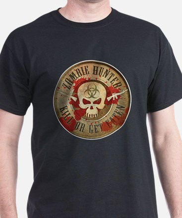 Zombie Hunter Distressed T-Shirt