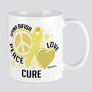 Spina Bifida Peace Love Cure Mug