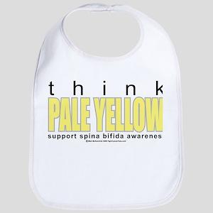 Spina Bifida Think Pale Yello Bib