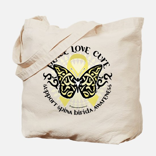 Spina Bifida Butterfly Tribal Tote Bag