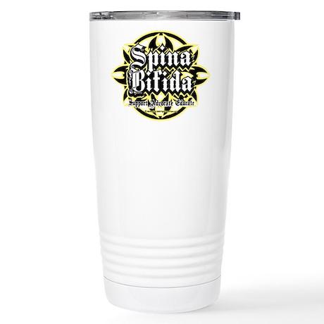 Spina Bifida Tribal Stainless Steel Travel Mug