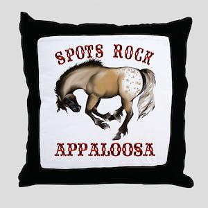 More Spots Rock Shirt Throw Pillow