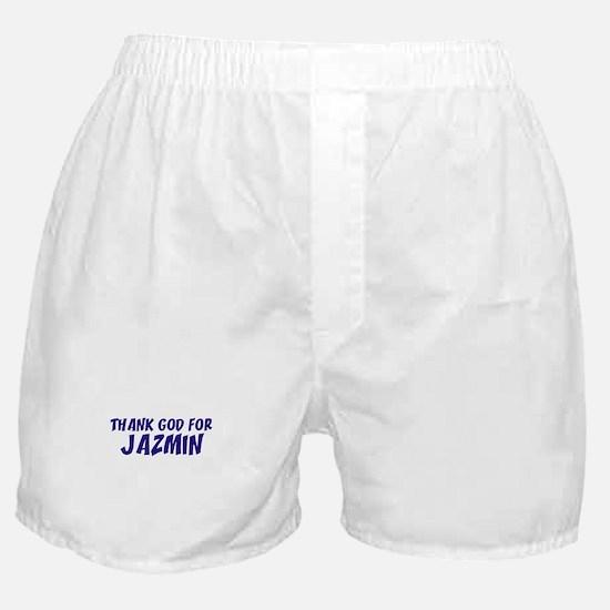 Thank God For Jazmin Boxer Shorts