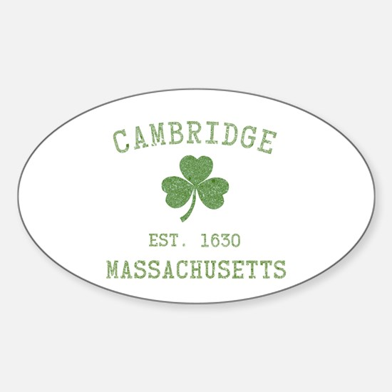 Cambridge MA Sticker (Oval)
