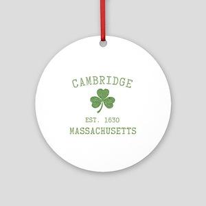 Cambridge MA Ornament (Round)