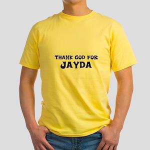 Thank God For Jayda Yellow T-Shirt