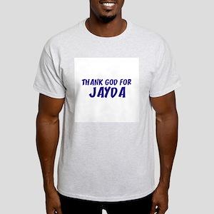 Thank God For Jayda Ash Grey T-Shirt