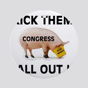 CONGRESS PIGS Ornament (Round)
