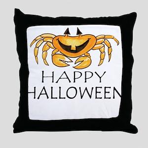 Cute Halloween Crab Throw Pillow