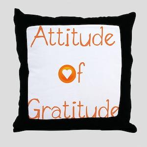 Attitude of Gratitude Throw Pillow