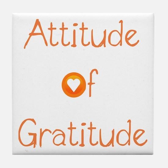 Attitude of Gratitude Tile Coaster