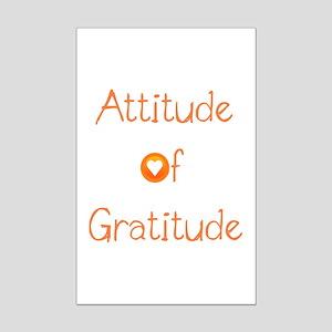 Attitude of Gratitude Mini Poster Print