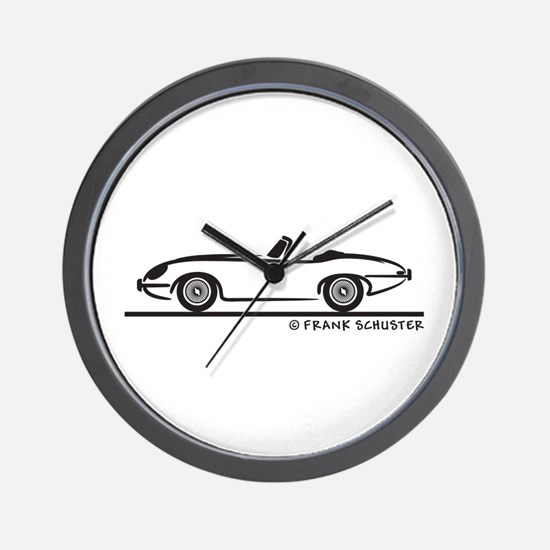 Jaguar E-Type Roadster Wall Clock