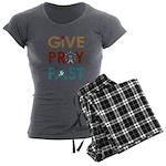 Give Pray Fast Women's Charcoal Pajamas