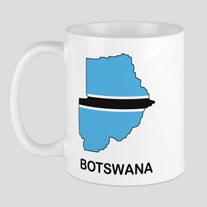 Map Of Botswana Mug