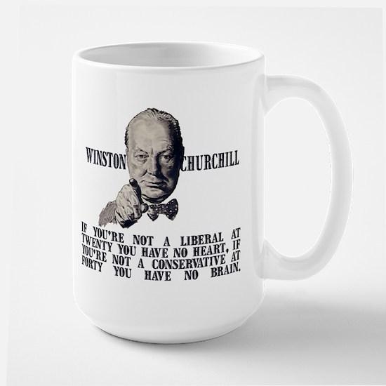 Churchill on Conservatives Large Mug