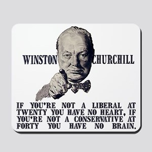 Churchill on Conservatives Mousepad