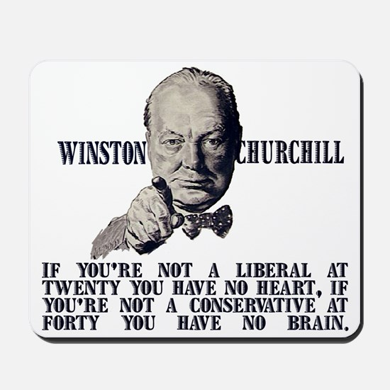 Churchill on Conservatives Mousepad